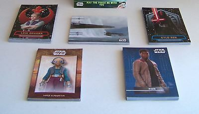 Star Wars The Force Awakens (series 2) 5 set insert card lot. 63 cards
