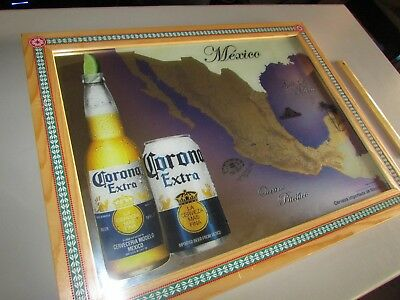 Corona Extra Cerveza Importada de Mexico Beer Mirror Man Cave Bar Sign Map Can