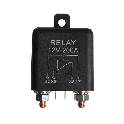 DC 12V 200A Normally Open 4 Pin Relay Automotive Split Charge Black Useful