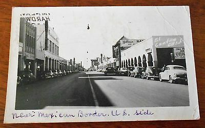 Vintage Postcard - New Mexican Border Us Side California C1949 Vehicles