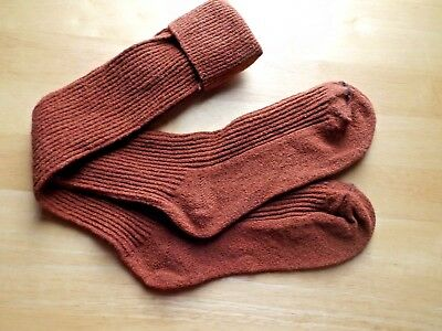 Vtg 70s New Unused Knee High Socks Corduroy NWOT