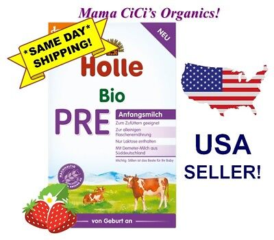 ***FREE EXPEDITED SHIPPING!***  Holle Stage PRE Organic Baby Infant Formula