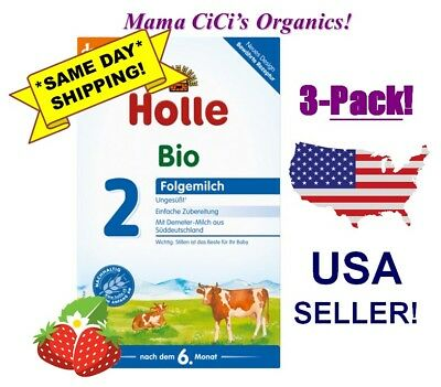 ***FREE EXPEDITED SHIPPING!*** 3 BOXES Stage 2 Holle Organic Baby Infant Formula
