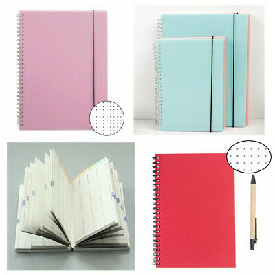 A5 Book Dotted Spiral Notepad 160/256 Page Dot Grid Bullet Journal Notebook