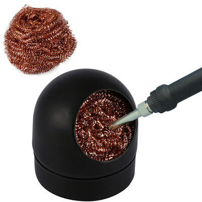1PC Welding Soldering Solder Iron Tip Cleaner Cleaning Steel Ball Wire Sponge