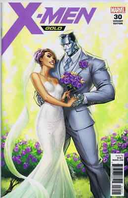 X-Men Gold 30 J Scott Campbell Variant Kitty Pryde & Colossus Wedding Nm