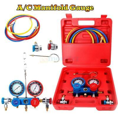 R134 R12 R22 HVAC A/C Refrigeration Kit AC Manifold Gauge Set Auto Service Kit
