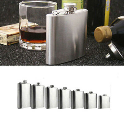 4-18oz Durable Stainless Steel Hip Flask Wine Tube Whisky Alcohol Drinkware New