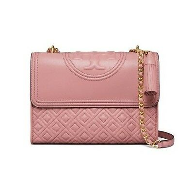 81df05615398 Authentic Tory Burch Fleming Convertible Shoulder Bag Large Pink Magnolia  NEW!