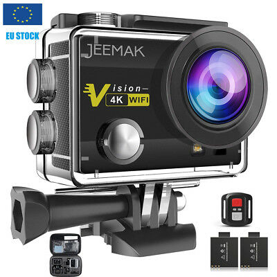 Jeemak Pro Cam Sport Action+Telecomando Camera 4K Videocamera Wifi Ultra Hd 16Mp