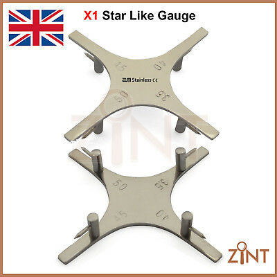 Bracket Positioning Star Gauge Orthodontic Dental Gauges Laboratory Instruments
