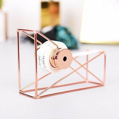 Useful Rose Gold Stationery Metal Tape Holder Tape Cutter Office Tape Dispenser