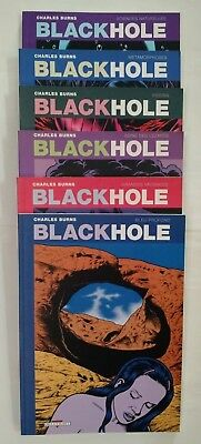 Black Hole ** Tome 1 A Tome 6 Serie Complete ** Dont Eo Comme Neuf Charles Burns