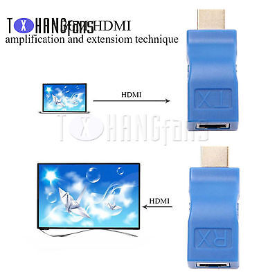 4K 1080P 3D HDMI Extender to RJ45 Over Cat 5e/6 Network Ethernet AdapterATF