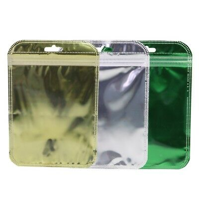 7CMx13CM Ziplock Grip Seal Bags Flat Pouch Clear//Silver Smell Free