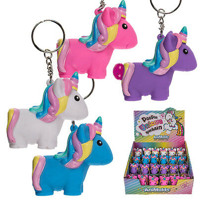 Squeeze Unicorn Poop Key Ring Novelty Squishy Novelty 6Cm Stocking Filler Gift