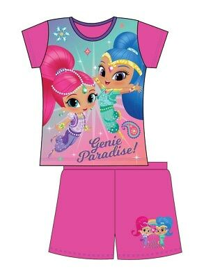 REDUCED Girls Official Shimmer and Shine Short Pyjamas 18-24 Months