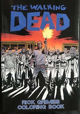 The Walking Dead Rick Grimes Coloring Book Signed By Charlie Adlard