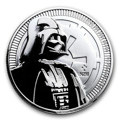 2017 Niue Silver Darth Vader 1 Oz Silver Coin BU  -from mint tube