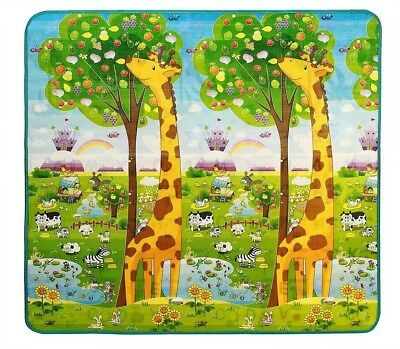 Baby Crawling Play Mat Kids Playing Gym Eductaional Pad 2 Sides 200 x 18