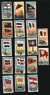 Naval nautical Pilot Flags c.1909-11 old tobacco cards lot x 34 USA Europe
