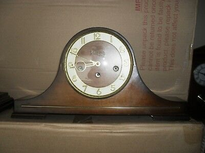 Vintage  Franz Hermle Napoleon Hat Mantle Clock with Westminster Chime