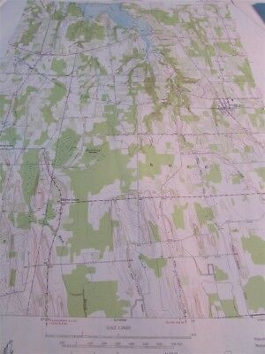 "22/"" X 27/"" New York State Quadrangle Topographical Map of Westford 1943 M-10"