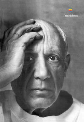 APPLE-THINK-DIFFERENT-POSTER PABLO PICASSO.50x70 cm by STEVE JOBS