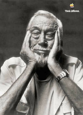 APPLE-THINK-DIFFERENT-POSTER JOHN HUSTON. 50x70 cm by STEVE JOBS