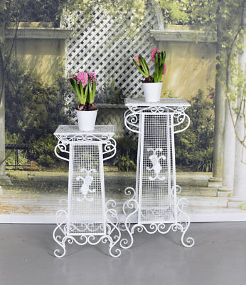Flower Stand 2 x Flower Table metallsäule Podium Flower Table Flower Stand White