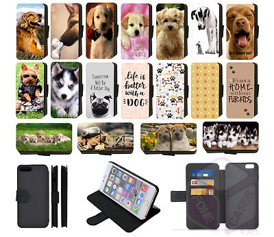 DOG CUTE PUPPY QUOTE Wallet Flip Phone Case Cover Galaxy S5 S6 S7 Edge S8 comp