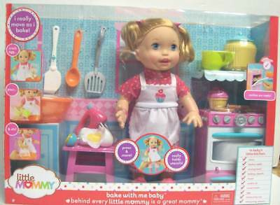 Little Mommy Bake with Me Baby Doll Kitchen Stove Table Mixer Utensils NEW