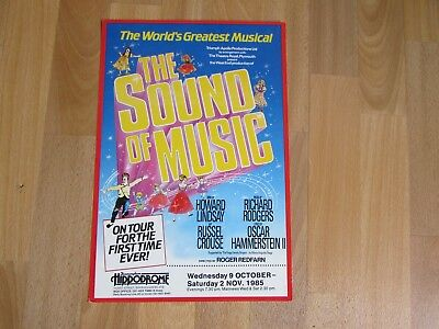 The SOUND of MUSIC Classic Musical 1985 Birmingham Hippodrome Theatre Poster