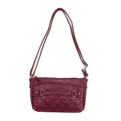 Vism  Bws003 Quilted Crossbody Ccw Purse Bag- Red