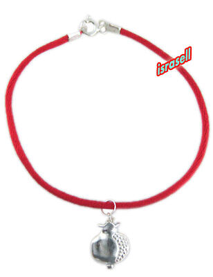 Kabbalah Red String Bracelet with 925 Sterling Silver Pomegranate Pendant