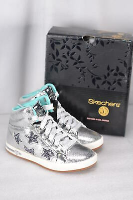 Youth Girl's Skechers Shoutouts- Starry Shine High Top Sneakers Silver
