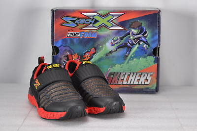 Youth Boy's Skechers Cosmic Foam-Portal Cruiser Hook and loop Shoes Black