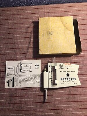 Vintage Metal Rain Gauge wind gauge Hydrotex oil Advertising, NIB, Excellent