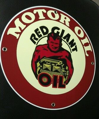 Red Giant Motor Oil Gas gasoline sign . FREE shipping on any 8 signs