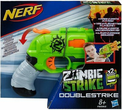 Nerf Zombie Strike Double Strike Indoor/Outdoor Blaster Toy Gun - New & Sealed