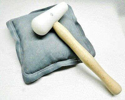 """Sand Bag 9"""" & Nylon Hammer Set Dome Head Metal Forming Stamping Jewelry Making"""