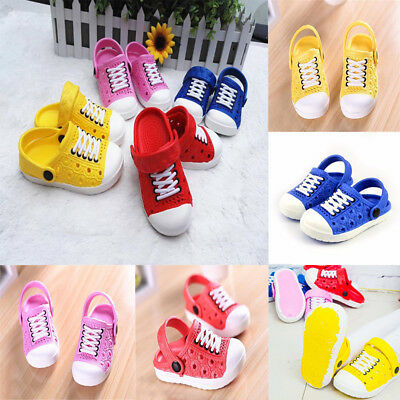 Girls Boys Toddler Kids Croc Style Sandals Slippers Beach Caterpillar Shoes Size