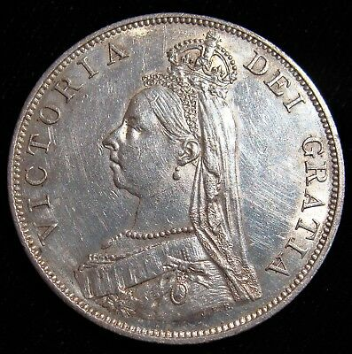 Great Britain: Victoria Double Florin 1889 UNC - Hairlines, KM763.