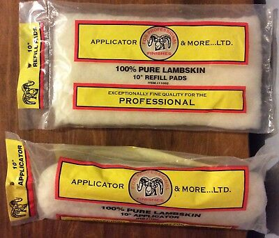 "Applicator & More...Ltd.  Lambskin 10"" Applicator (11001) & Refill Pad (11002)"
