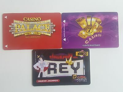 "Mexico - 3 Slot Cards - "" Palace Casino "" "" Big Bola Casino"" "" Rey Casino"""
