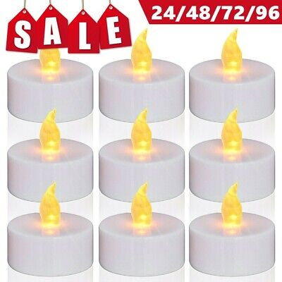 72 Flameless Votive Candles Battery Operated Flickering LED Tea Light Warm White