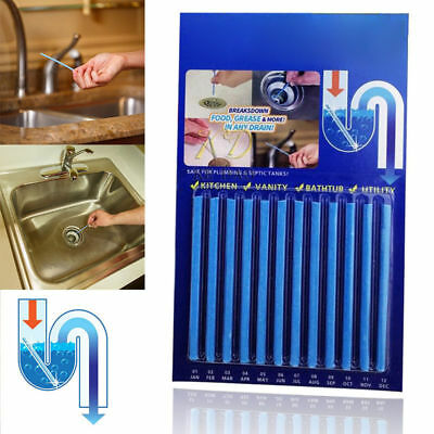 12/24/48 Sani Sticks Soap Keep Drain Pipes Clean Bar Odor Free Cleaning Product