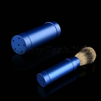 Men's Pure Badger Hair Shaving Brush Aluminum Handle with Cover Portable Travel