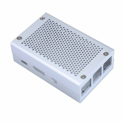 Raspberry Pi 3 Case Aluminum Case Silver Case Compatible with Raspberry Pi 2 B