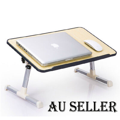 AU Portable Multi-Fuction Wood Laptop Notebook Computer Home Desk Bed Tray Table